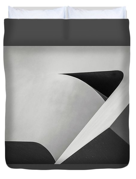 Abstract In Black And White Duvet Cover