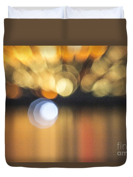 Duvet Cover featuring the photograph Abstract Light Texture With Mirroring Effect by Odon Czintos