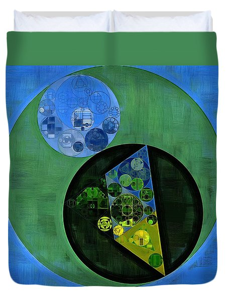 Duvet Cover featuring the digital art Abstract Painting - Amazon by Vitaliy Gladkiy