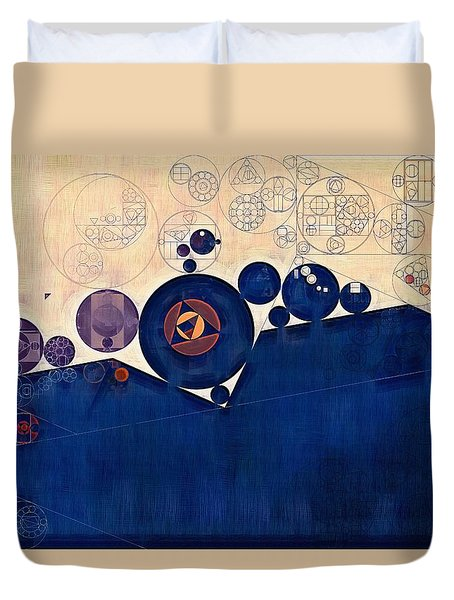 Abstract Painting - Champagne Duvet Cover by Vitaliy Gladkiy