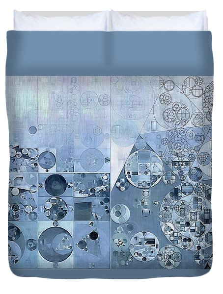 Abstract Painting - Light Steel Blue Duvet Cover