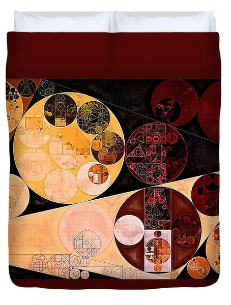 Duvet Cover featuring the digital art Abstract Painting - Tacao by Vitaliy Gladkiy