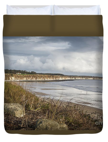 Across The Bay Duvet Cover by David  Hollingworth