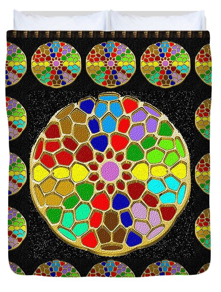 Acrylic Painted Round Colorful Jewel Patterns By Navinjoshi At Fineartamerica.com   Also Available O Duvet Cover