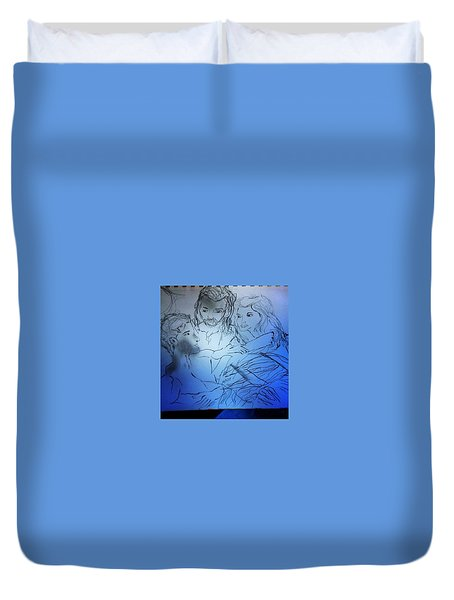 Adam Andeve The Creation Story Duvet Cover