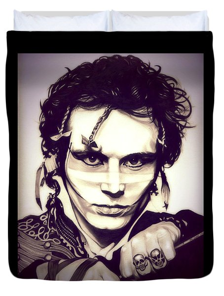 Adam Ant Duvet Cover by Fred Larucci