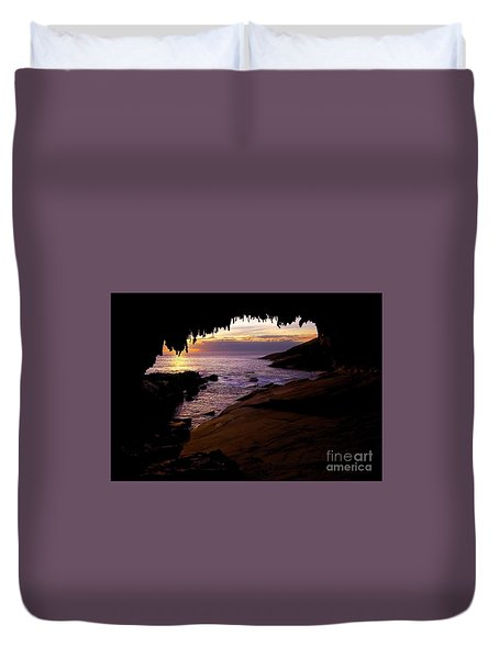 Admiral's  Arch Sunset Duvet Cover by Mike Dawson