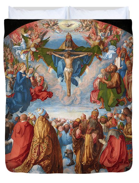 Adoration Of The Trinity  Duvet Cover