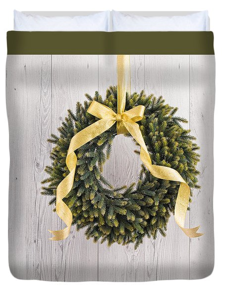 Duvet Cover featuring the photograph Advents Wreath by Ulrich Schade