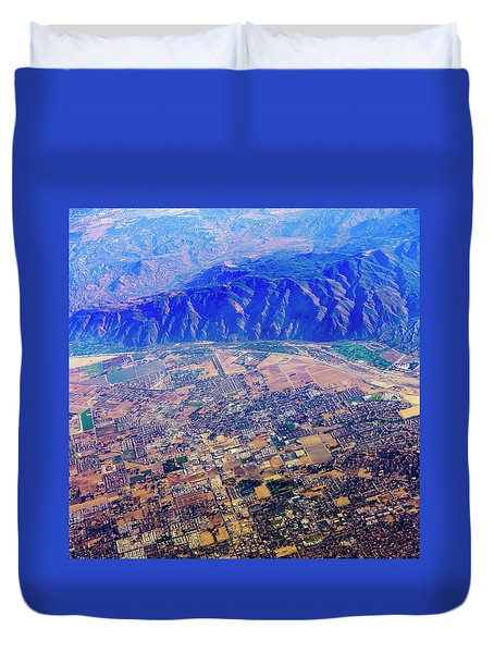 Aerial Usa. Los Angeles, California Duvet Cover by Alex Potemkin