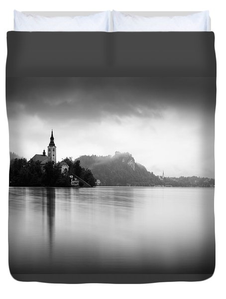 After The Rain At Lake Bled Duvet Cover