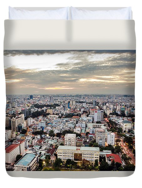 Afternoon On The City Duvet Cover