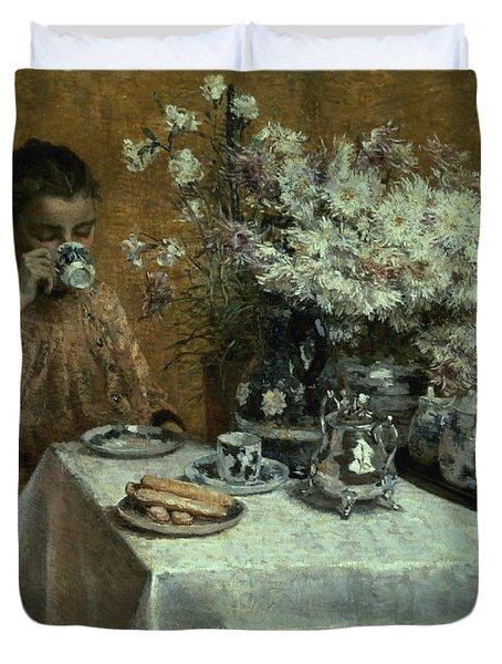 Afternoon Tea Duvet Cover by Isidor Verheyden
