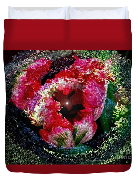 Duvet Cover featuring the photograph Agleam by Kathie Chicoine