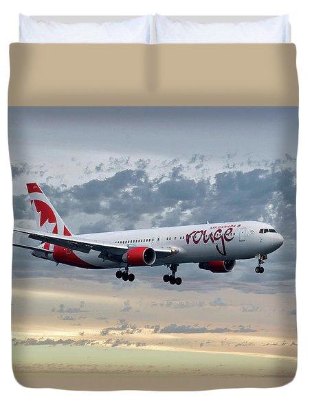Air Canada Rouge Boeing 767-333 Duvet Cover