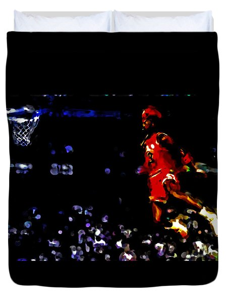 Air Jordan In Flight Iv Duvet Cover