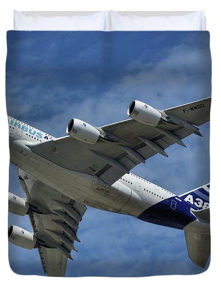 Airbus A380 Duvet Cover by Tim Beach