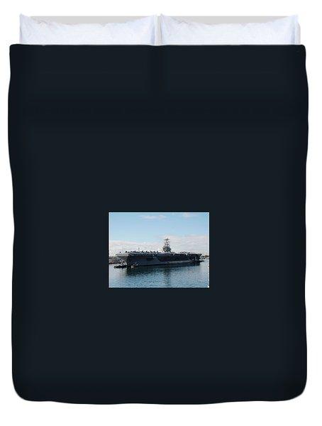 Aircraft Carrier Duvet Cover