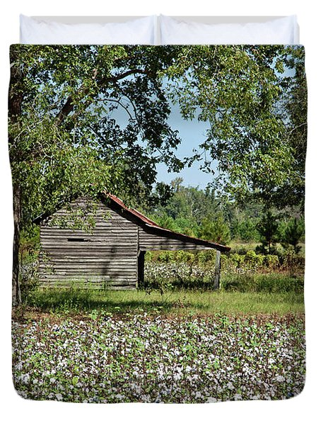 Alabama Cotton Field Duvet Cover by L O C