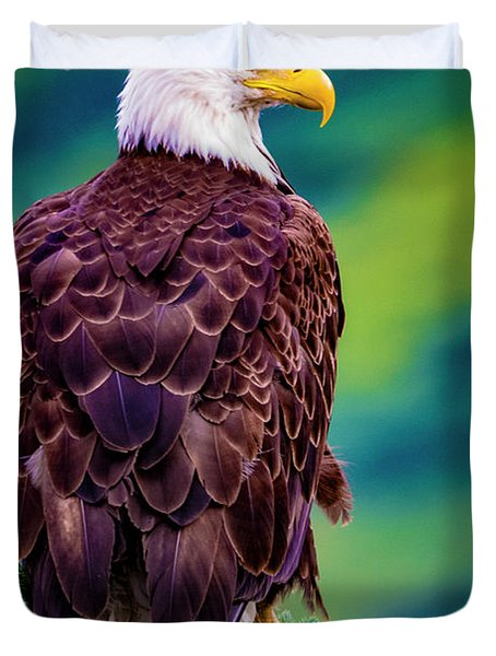 Alaska Bald Eagle Duvet Cover