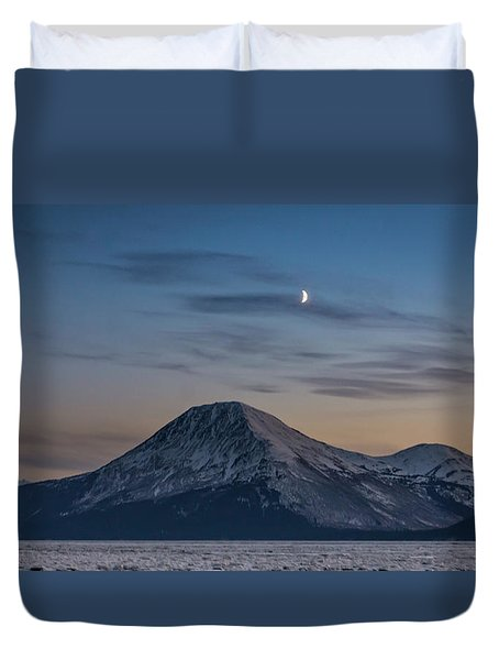 Alaska Sunset Duvet Cover