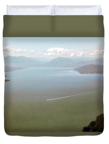 Duvet Cover featuring the photograph Alaska The Beautiful by Madeline Ellis