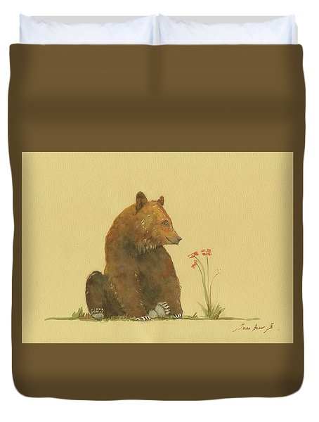 Alaskan Grizzly Bear Duvet Cover