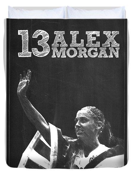 Alex Morgan Duvet Cover by Semih Yurdabak
