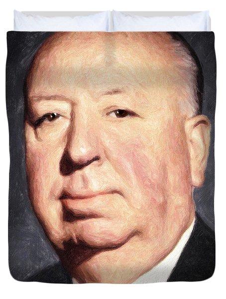 Alfred Hitchcock Duvet Cover by Taylan Apukovska