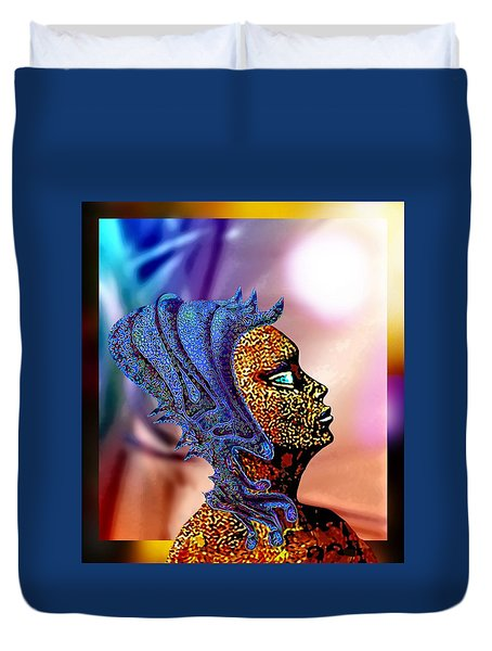 Alien Portrait Duvet Cover