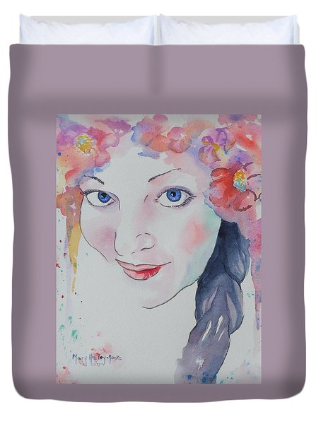 Alisha Duvet Cover by Mary Haley-Rocks
