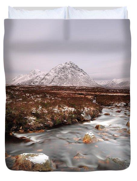 Allt Nan Giubhas And The Peak Of Stob Dearg Duvet Cover