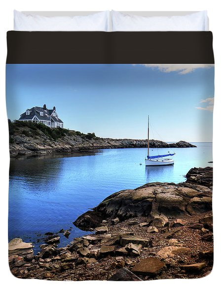 Duvet Cover featuring the photograph Almost Paradise Newport Ri by Tom Prendergast