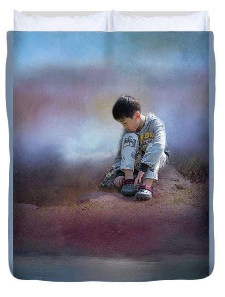 Alone Duvet Cover by Eva Lechner