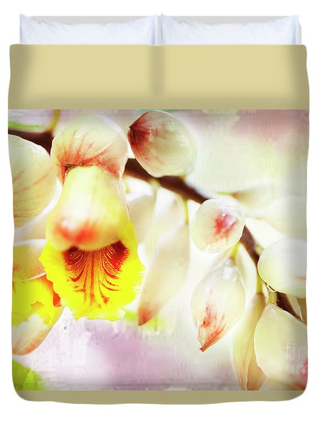 Duvet Cover featuring the photograph Alpinial Galangal by MaryJane Armstrong
