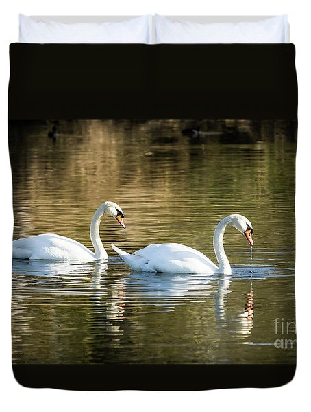 Always Together Wildlife Art By Kaylyn Franks Duvet Cover