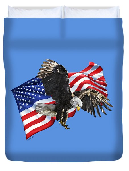 America Duvet Cover by Owen Bell