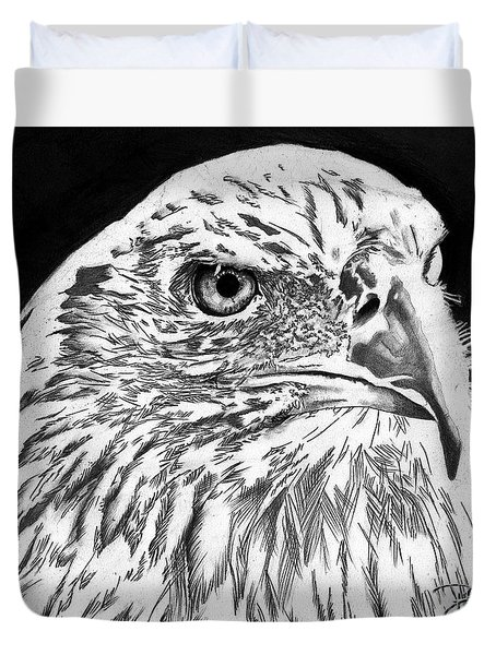 American Bald Eagle Duvet Cover by Bill Richards