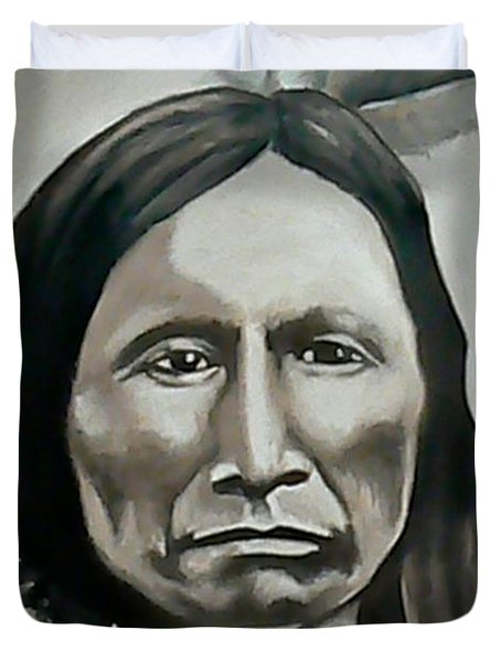 American Horse Duvet Cover by Michael  TMAD Finney