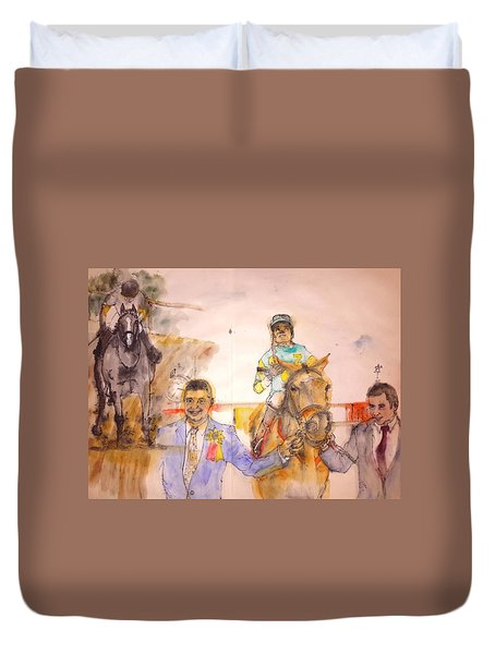 Duvet Cover featuring the painting American Pharaoh Abum by Debbi Saccomanno Chan
