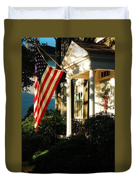 Duvet Cover featuring the photograph Americana by James Kirkikis