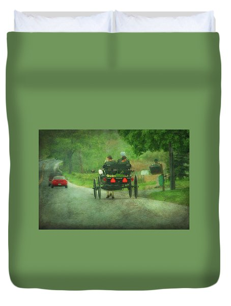 Amish Ladies Of Lancaster County Duvet Cover