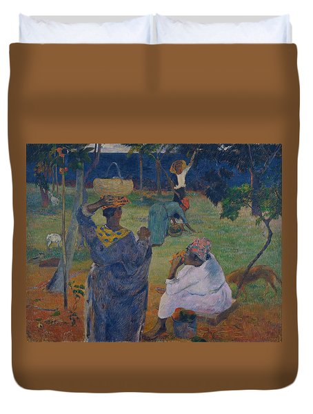 Among The Mangoes At Martinique Duvet Cover by Paul Gauguin