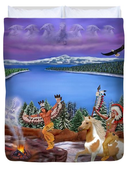 Among The Spirits Duvet Cover