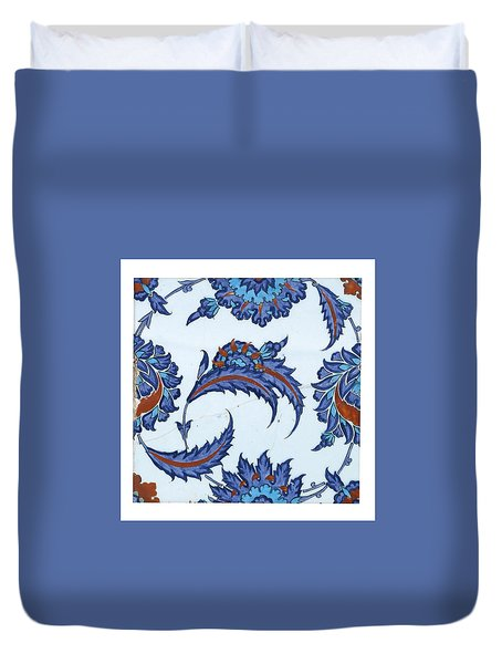 An Iznik Polychrome Pottery Tile Duvet Cover