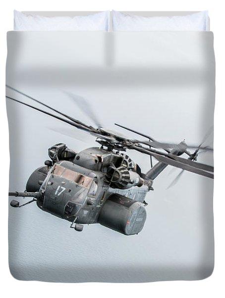 An Mh-53e Sea Dragon Helicopter Duvet Cover