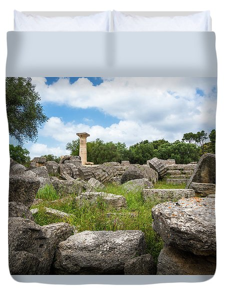 Ancient Olympia / Greece Duvet Cover by Stavros Argyropoulos