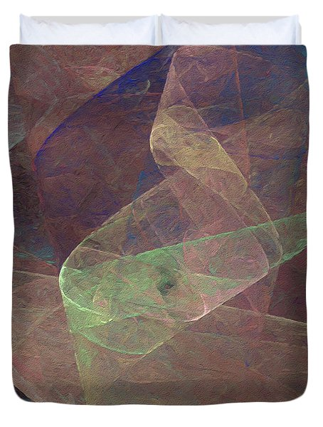 Duvet Cover featuring the digital art Andee Design Abstract 66 2017 by Andee Design