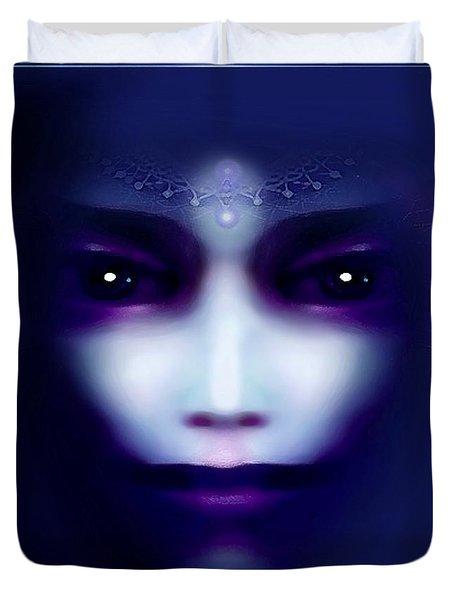 Angel  Blue Duvet Cover