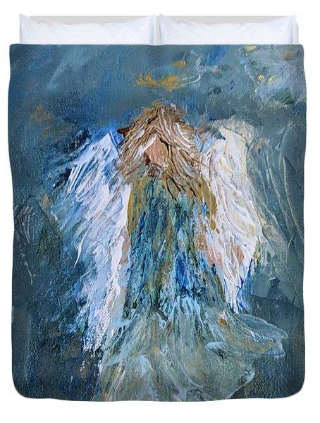 Angel Girl Duvet Cover